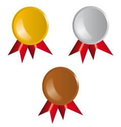 Awards Ribbons vector image vector image