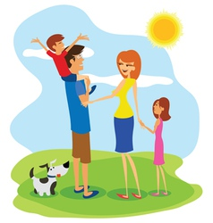 Family day vector image vector image