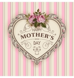 Happy Mothers Day Holiday Festive vector image