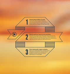 Numbered business infographic with blurry vector image vector image