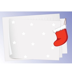 paper sheets and christmas bag vector image vector image