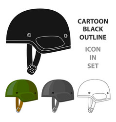 army helmet icon in cartoon style isolated on vector image