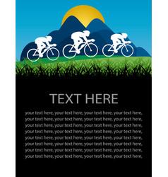 cycling poster vector image