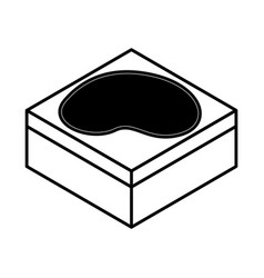 lake terrain isometric icon vector image