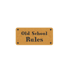 old school label on retro card vintage hand drawn vector image