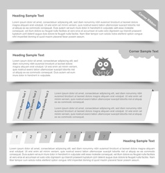 Web Banners and Sliders vector image vector image