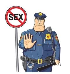 Cop prohibits sex vector image
