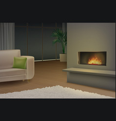 cozy living room vector image vector image