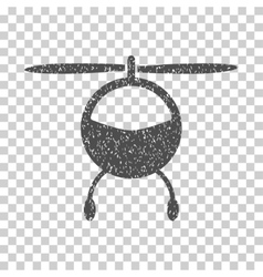 Helicopter Grainy Texture Icon vector image vector image