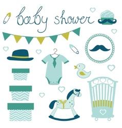 Little man baby shower vector image