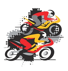 Motorbike competition vector image vector image