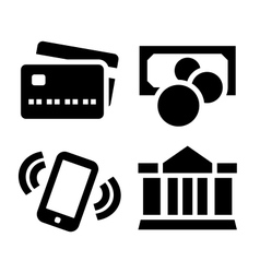 Payment icon set vector image vector image