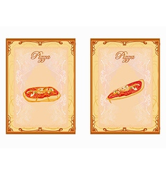 Pizza Menu card set vector image vector image