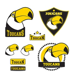 Set of toucan logos vector image vector image