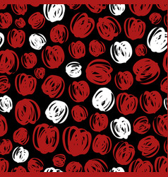 abstract seamless pattern design - red and white vector image vector image