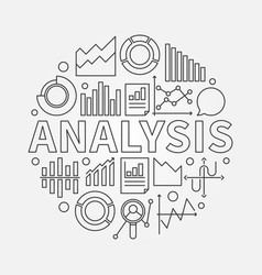 analysis outline vector image