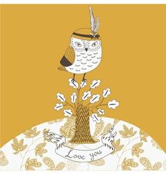 cheeky owl drawing vector image