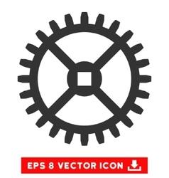 Clock gear eps icon vector