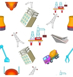 Construction plant pattern cartoon style vector image vector image