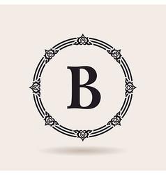 Frame calligraphic design emblem vintage labels vector