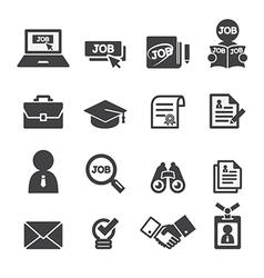 job icon set vector image vector image