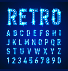 Light letters vector
