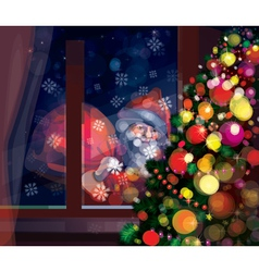 winter santa vector image vector image