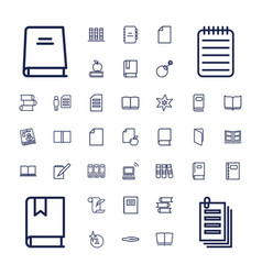 37 book icons vector