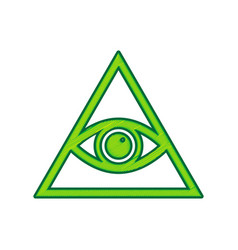 all seeing eye pyramid symbol freemason and vector image