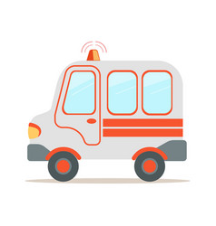 ambulance car emergency medical service vehicle vector image