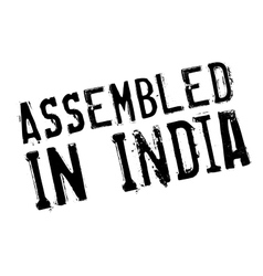 Assembled in India rubber stamp vector image