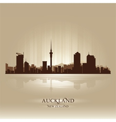 Auckland New Zealand skyline city silhouette vector image