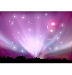 aurora boreal vector image