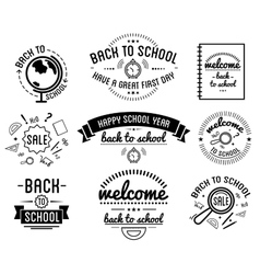 Back to School typography Designs Label Set vector image