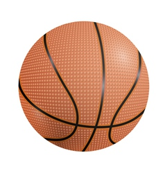 Basketball ball on a white background vector