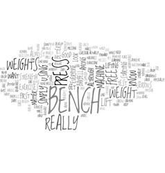 Bench press text word cloud concept vector