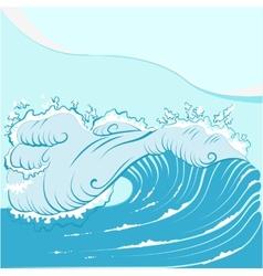 Blue foamy sea wave vector