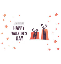 bright sales flyer with gifts for valentines day vector image