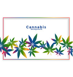 cannabis marijuana leaves in colorful style vector image