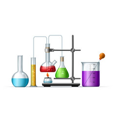 chemistry lab reagents vector image