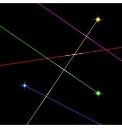 Color Laser Light Set on Black Background vector