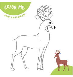 coloring page outline of cartoon cute christmas vector image