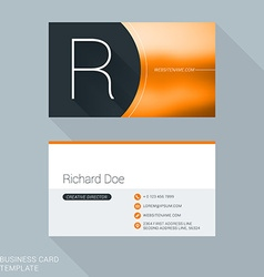 Creative Business Card Template Letter R Flat vector image