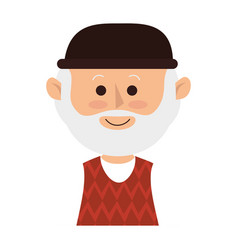 cute grandfather avatar character vector image