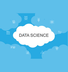 data science infographic cloud design template vector image