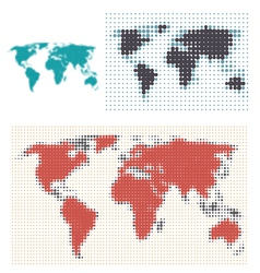 Dotted map design vector