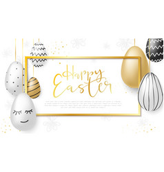 Easter day greetings banner vector