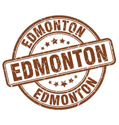 Edmonton brown grunge round vintage rubber stamp vector