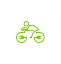 Electric bike logo icon design vector