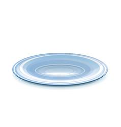 Empty saucer vector image